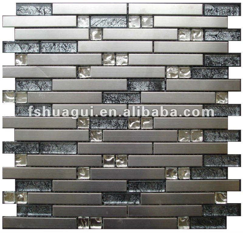Nero hg js8018 lamina di vetro argento mix opaco striscia 304 ...
