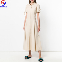 2019 new arrivals online shopping women tie sleeve shirt dress