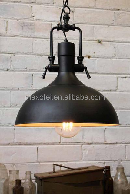 loft industriel r tro fer vintage plafonnier lustre pendentif lampe lustre id de produit. Black Bedroom Furniture Sets. Home Design Ideas
