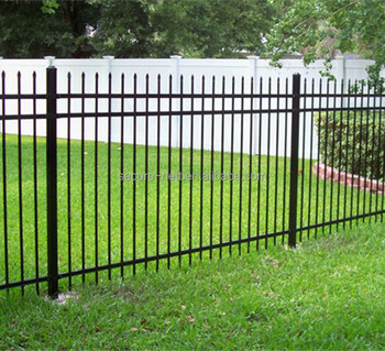 Used Wrought Iron Gate Grill Fencing For Garden With Three Rails