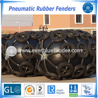 Marine Yokohama Pneumatic Rubber Fenders for boat ship with chain and tire nets