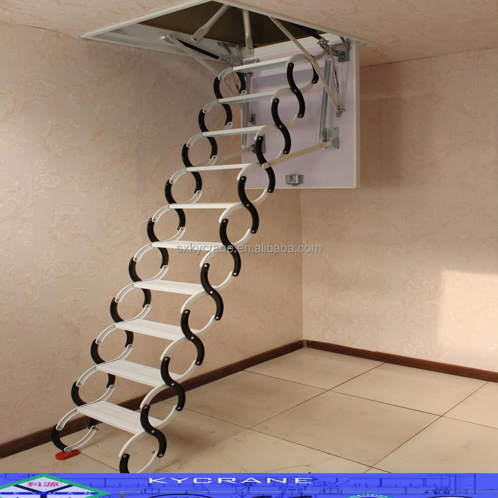 Attic Lifts Telescopic Retractable Aluminium Household Staircase