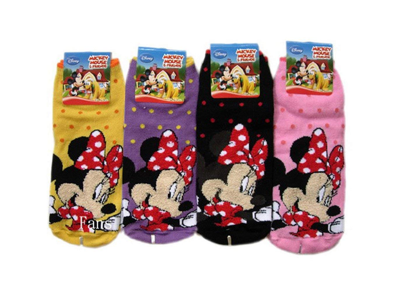 2cedc37eaa1 Get Quotations · 2 Piece Minnie Mouse Socks (Size 9-11) - Assorted Childrens  Socks