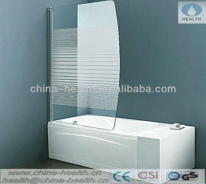 vasca di vetro dello schermoschermo vascapivot per vasca da bagno schermo