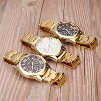2018 OEM fashion Gold Geneva Watch Women Cheap price wrist watch bracelet stainless steel geneva women watch