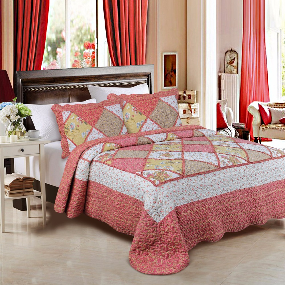 Made In China Polyester Patchwork Comforter Luxury Bedding <strong>Set</strong>