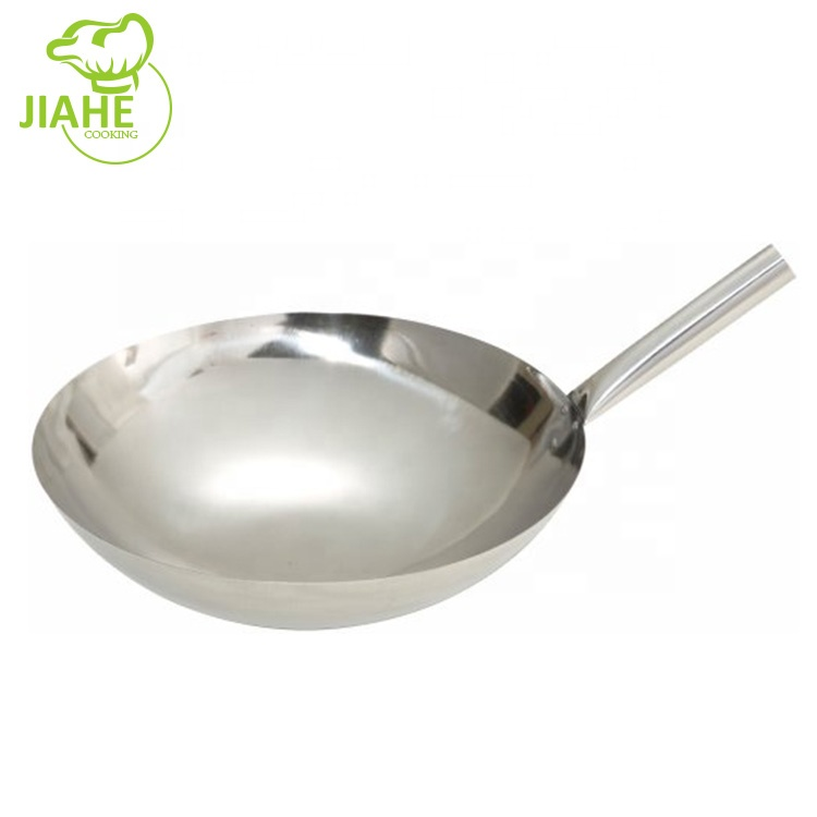 low price best stainless steel chinese wok