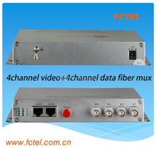factory price 4 way single-direction bi-direction audio, video, data transmitter and receiverfiber optic equipment