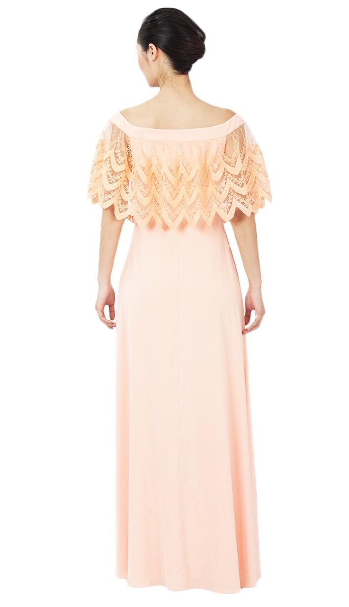 d170eed6b Naranja Semi Formal vestido de dama Casual 2016 Maxi vestidos para las  mujeres