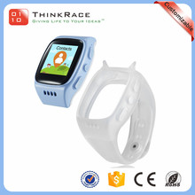 Fashion design multiple position gps watch mobile phones for kids