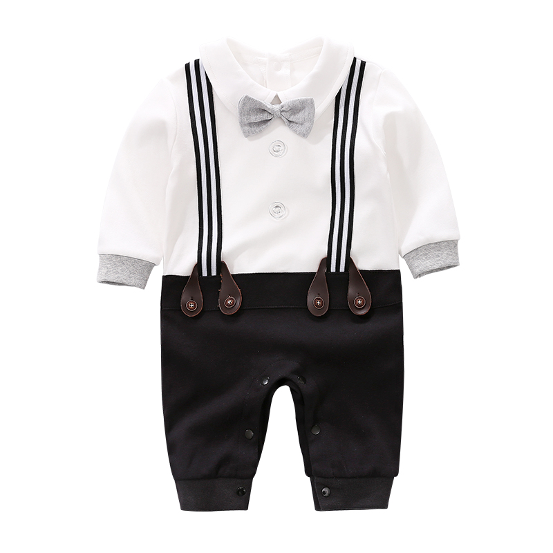 LTY560 Newborn Clothing Baby Fashion 100% Cotton Baby Boy Romper Navy Strap Infant Jumpsuit neonatal jumpsuit фото