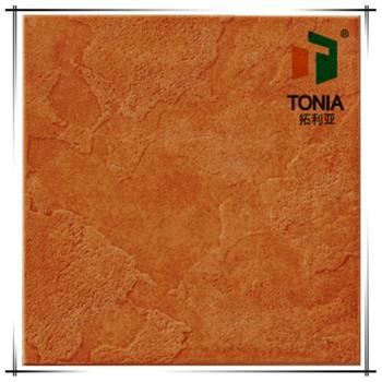 Outdoor Villa Glazed Porcelain Tile Orange Color Ceramic Tiles Garden Floor