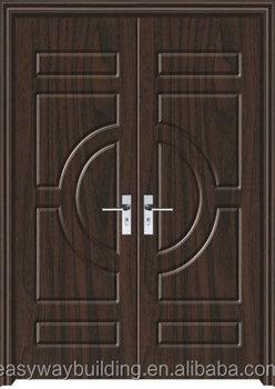 2015 new design popular front main entrance double wooden for Wood door design uk