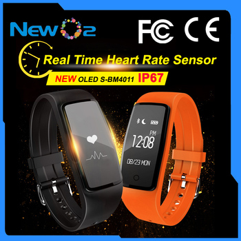 CE Waterproof Real Time Heart Rate Sports Sleep Monitor Pedometer Health Fitness Activity Tracker Smart Bluetooth Bracelet Watch