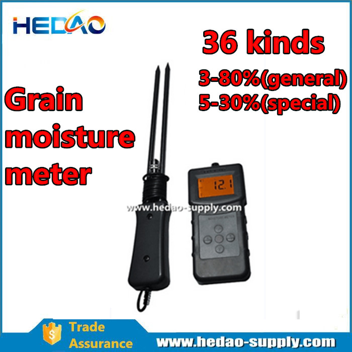 Digital LCD Maize Pepper Grain Rice Moisture Meter Coffee Cocoa Bean Water Tester Rice Oat Wet Analyzer