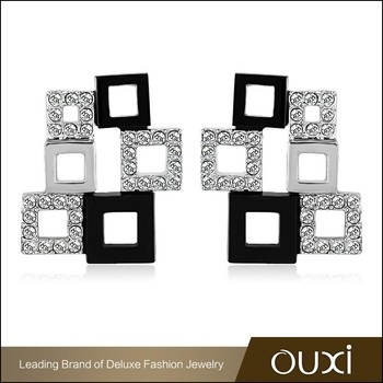 Ouxi Online Top Design Make Your Own Character Austrian Crystrian Large Earrings