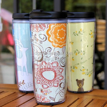 photo insert travel mug,travel mug with cards insert,customized design is available