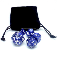 Custom Polyhedral Dice Set 10 Sided Dice In Velvet Bag Manufacturer