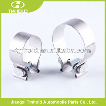 heavy duty steel band exhaust muffler hose clamp