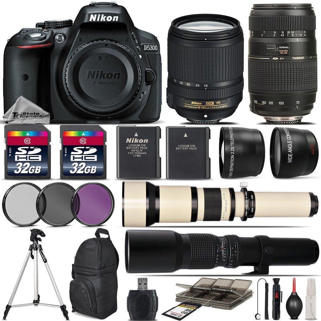 D300 D3000 /& D5000 Digital SLR Cameras D3x D200 D3 D60 D90 D700 D300s D3s Vivitar 650-1300mm f//8-16 SERIES 1 Telephoto Zoom Lens for Nikon D40