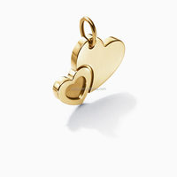 new arrival design Personalized Engraved Charms fashion gold plated heart pendants