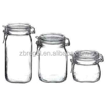 New Set Of 3 Piece Dishwasher Safe Clear Top Italian Glass Food