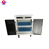Moving charging storage trolley professional and safe ipad tablet laptop mobile charging cart