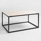 Square design custom cut marble coffee table