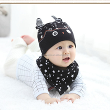 AL2235I New arrival baby girls boys cap sets hat +bibs 2 pcs kids baby hat