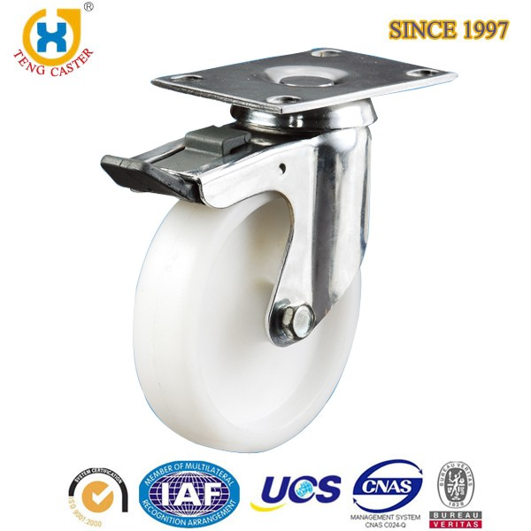 Low Noise Stem Screw Casters Industrial Swivel Pu Casters And Wheels For Cement Ground
