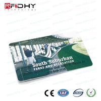 Custom Printed Plastic card pvc slot hole punch