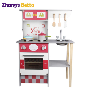 Wooden Pretend Kitchen Toy Safe Kids Play Set - Buy Wooden Play  Kitchen,Play Kitchen Wooden Set,Kids Kitchen Playset Product on Alibaba.com