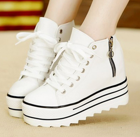 women shoes factory price platform sneakers casual footwear lace up ladies canvas shoes