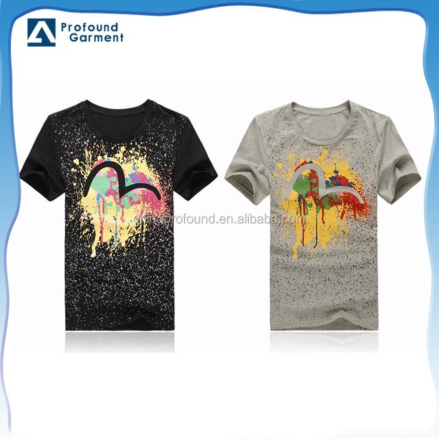 Stylish OEM short sleeve sublimation printed colorful graphic boys bulk t shirts