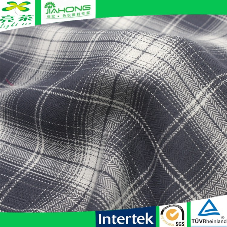 Fashion fabric 2016 soft yarn dyed plaid 100% fabric rayon for garment and dresses