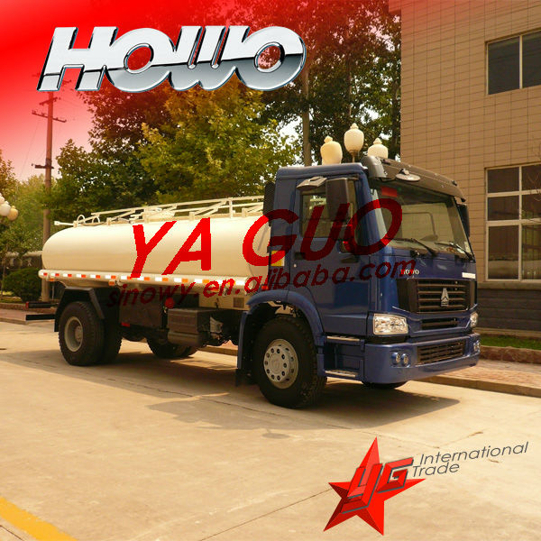 Howo 6*4 diesel tank fuel tankers better than used oil tank truck