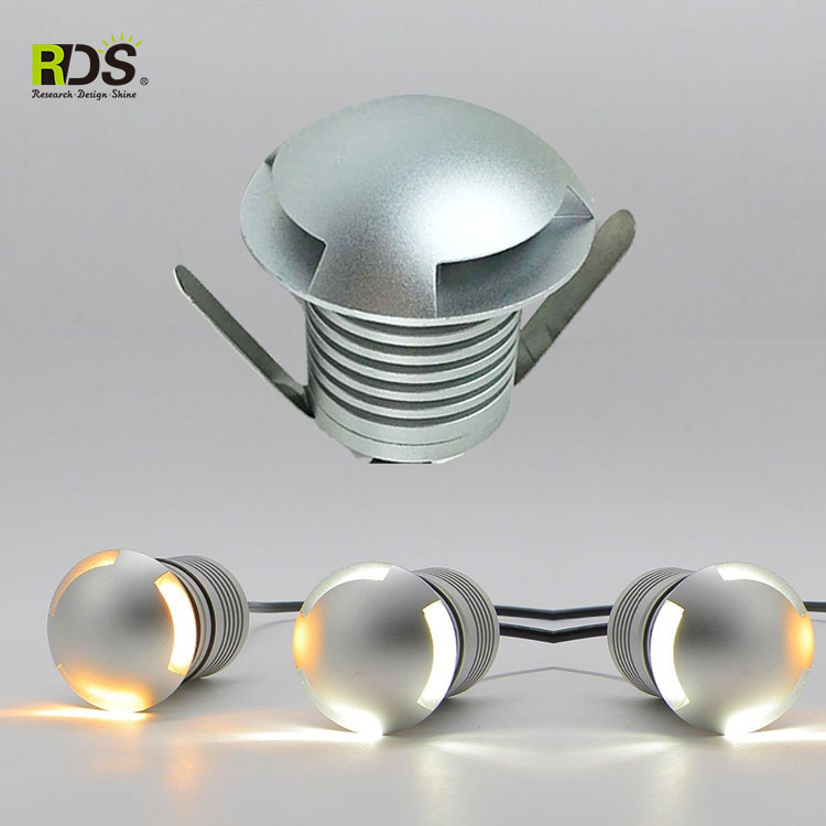 IP67 Outdoor buried garden lamp solar power 3w RGB led inground light