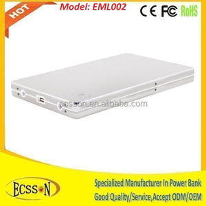 20000mah portable storage battery, external power bank for mobile and laptop
