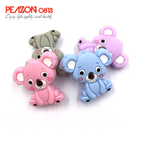 Wholesale China Best Manufacture Food Grade 10mm Baby Soft Koala Custom Silicone Teething Teether Beads For Children