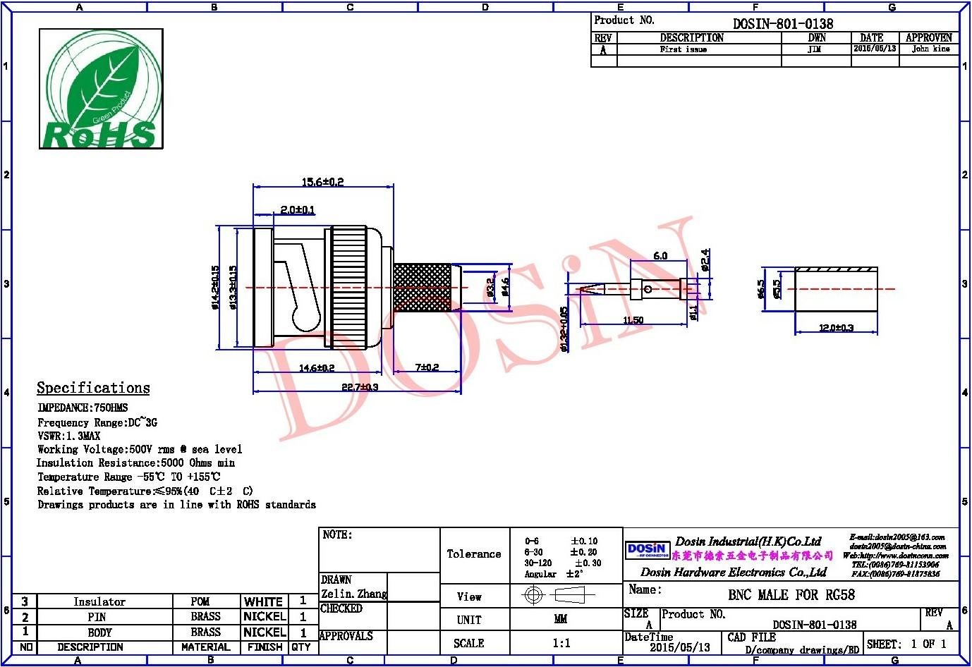 Cctv Bnc Connectors For Rg59 Coax Cable Connector Buy Wiring Diagram