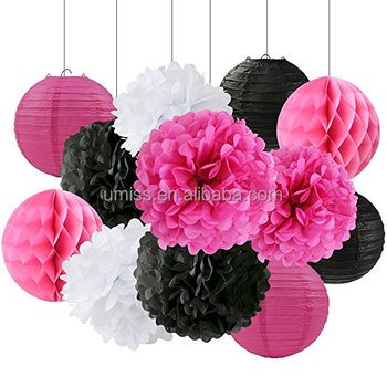 Umiss tissue craft decoration kit black white rose red paper flower umiss tissue craft decoration kit black white rose red paper flower tissue paper pom poms paper mightylinksfo