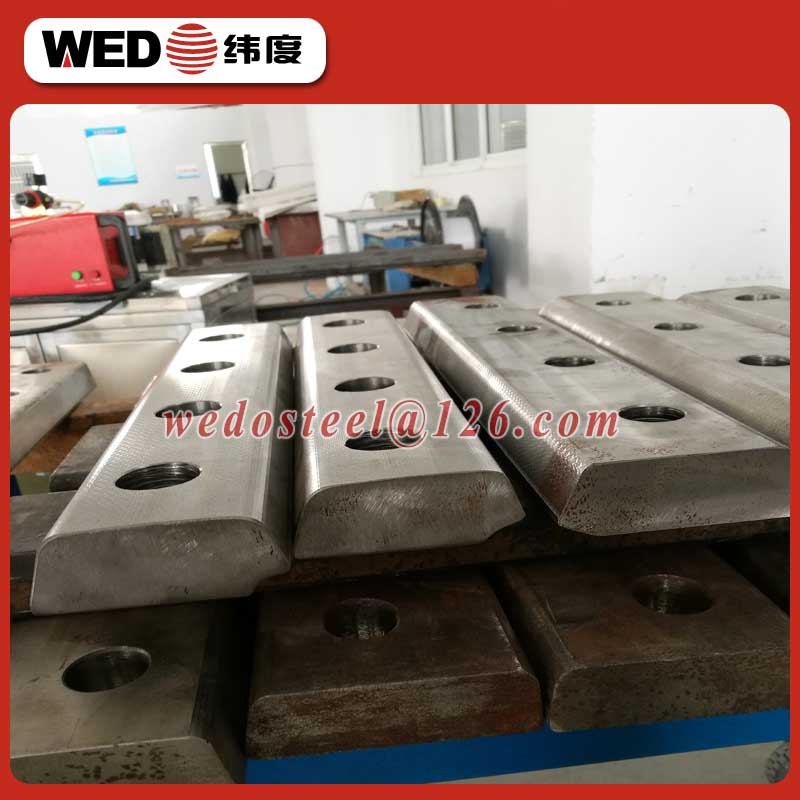 WEDO UIC60 60kg rail fish plate for railway fastener/steel track joint