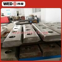 WEDO UIC60 60kg rail fish plate for railway fastener/steel track joint