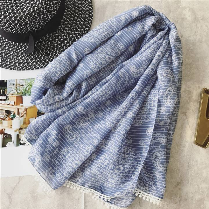 wholesale solid women scarf hijab viscose hijab small white lace shawls wrap