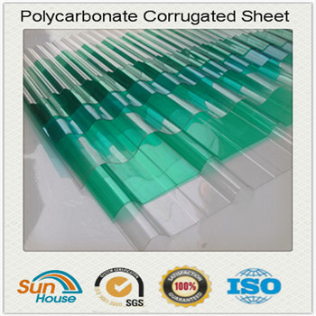 transparent 1mm PC corrugated sheet