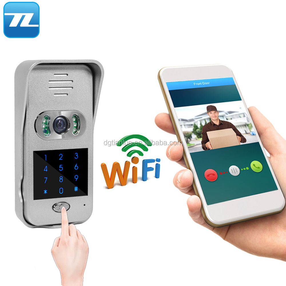 New Door Entry Password Unlock App Control Wireless Video Wifi Ip Door Bell  - Buy Door Bell Wifi,Door Bell Ip,Ip Door Bell Product on Alibaba com