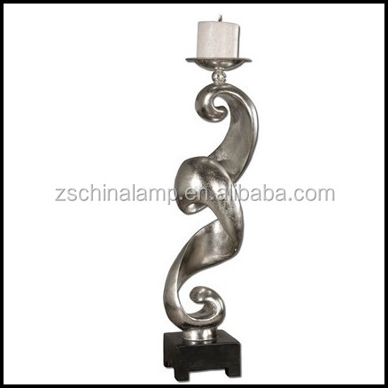 Customized Resin Candle Stand With Black Color Center Pieces Wedding Decorations Unique Christmas Gifts For Him