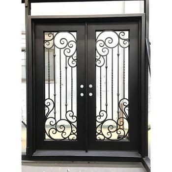House Safety Metal Security Door Wrought Iron Grill Doors Outdoor