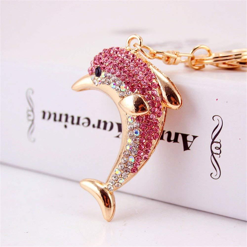 bc8f3868f7 Get Quotations · Wanrane Women's Supplies Modern Stylish Pendant Rhinestone  Dolphin Pendant Metal Keyring Purse Hand Bag Car Charm
