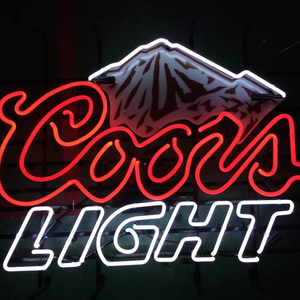 Neon beer logo sign